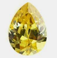 golden yellow cubic zirconia stones