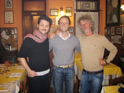 "Leonardo con Paolo Migone e Angelo Pisani dei ""Pali e Dispari"""