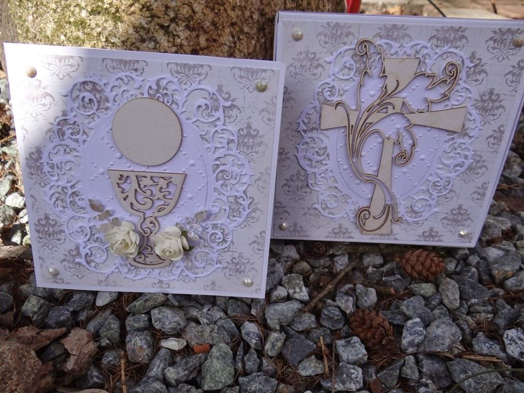 pamiątka pierwszej komunii świętej, kartka w pudełku