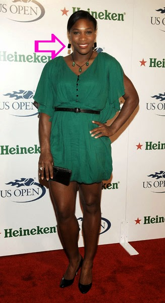 Serena Williams wearing Jenny Dayco earrings