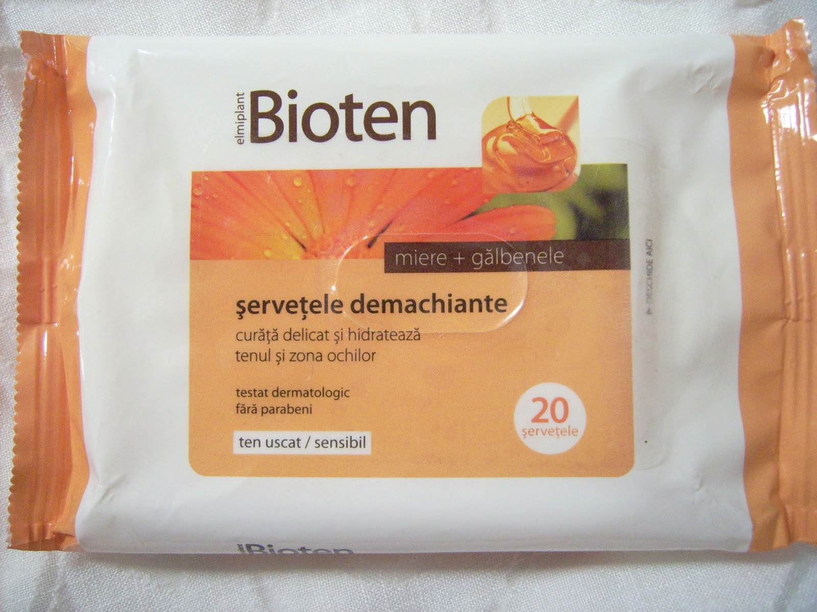 servetele demachiante Bioten, makeup remover wipes bioten