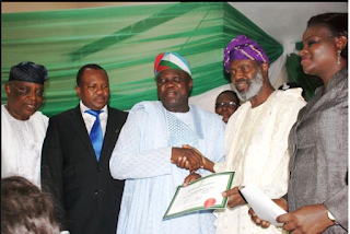 Lagos State Governor-Elect, Akin Ambode, Collects Certificate Of Return From INEC…See Photos
