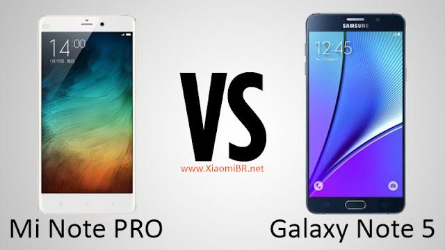 Mi Note Pro x Galaxy Note 5 - Qual melhor smartphone