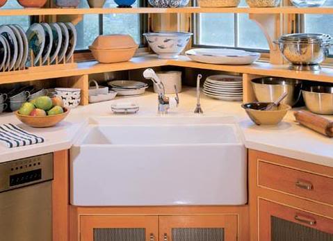 Kitchen With Corner Sink : ... or copper to be a perfect fit for the kitchen corner of your choice