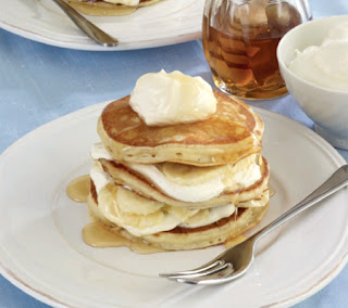 Banana-Yogurt-and-Honey-Pancake-Stack-Recipe