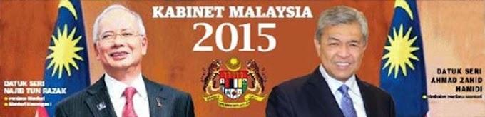 Senarai Kabinet Malaysia Terkini Julai 2015