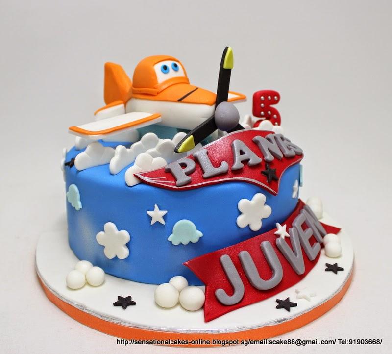 The Sensational Cakes PLANE CAKE SINGAPORE 3D AIRPLANE THEME CAKE