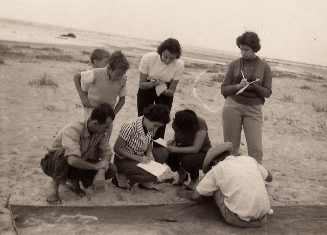 Estudantes em pesquisa em Nova Almeida, Serra, ES.