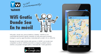 Obten Wifi  gratis con Yellwifi en tu Smartphone