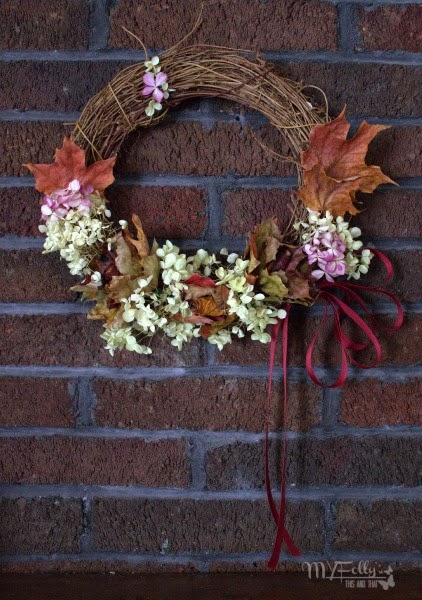 Fall Foliage Wreath/ This and That  Bringing fall into your home and preserving the wonderful flowers and leaves.