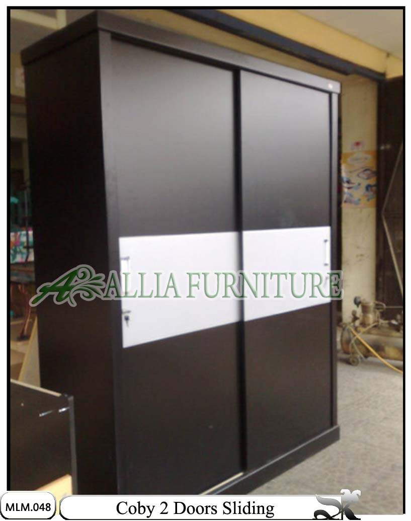 Lemari Minimalis Pintu Sliding Coby Alliafurniture