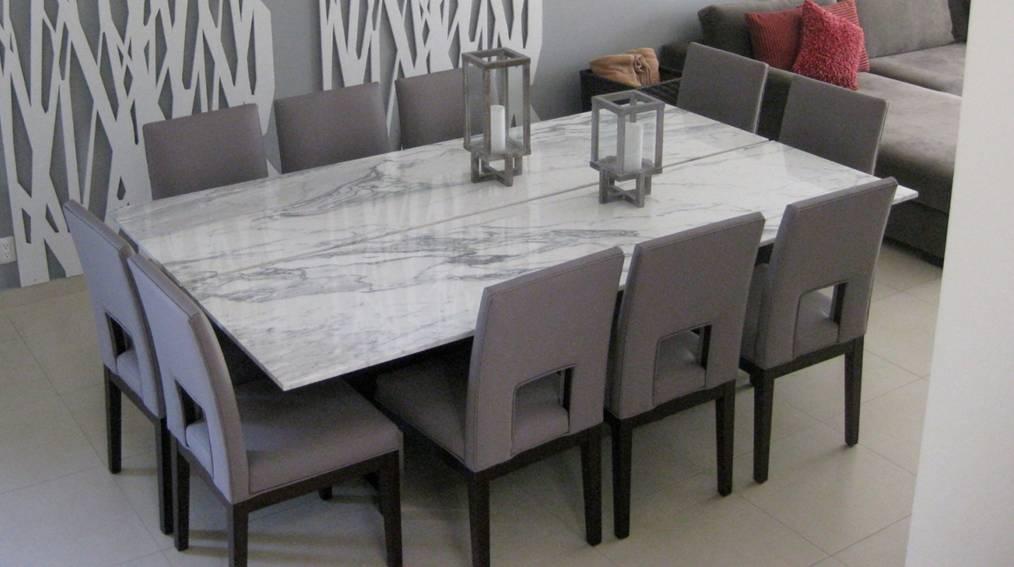 Makare muebles e interiores comedores for Comedor de marmol 8 sillas precio