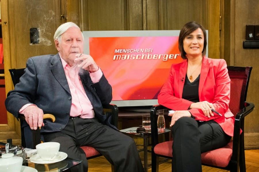 Too often interviewed Helmut Schmidt: suspected lung cancer at Sandra Maischberger