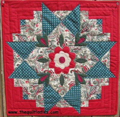 Red and Green Quilt Star Quilt