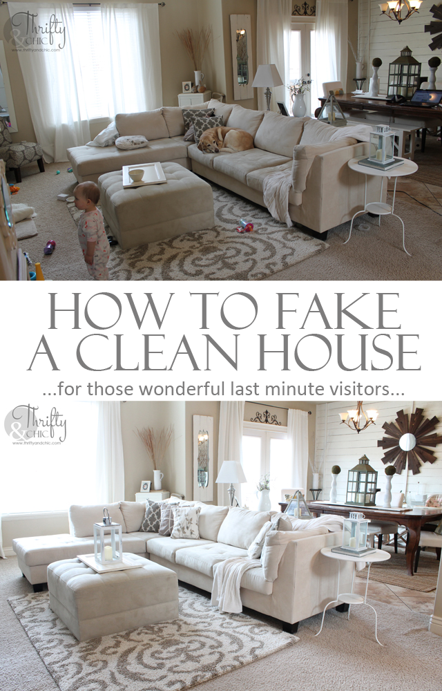 How to fake a clean house in 20 minutes. Over 25 tips, some that you probably wouldn't think of