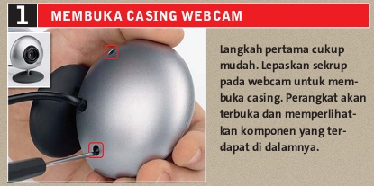 Membuka Casing Webcam