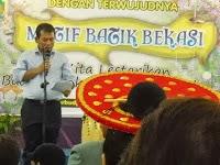 LAUNCHING RESMI MOTIF BATIK KHAS KOTA BEKASI 4 Juni 2013 oleh Walikota Bekasi Bp Rahmat Effendi