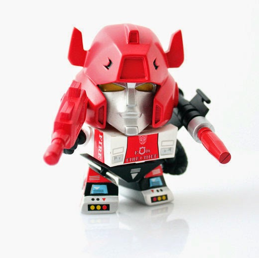 Gamestop Exclusive Red Alert Transformers Mini Figure by The Loyal Subjects