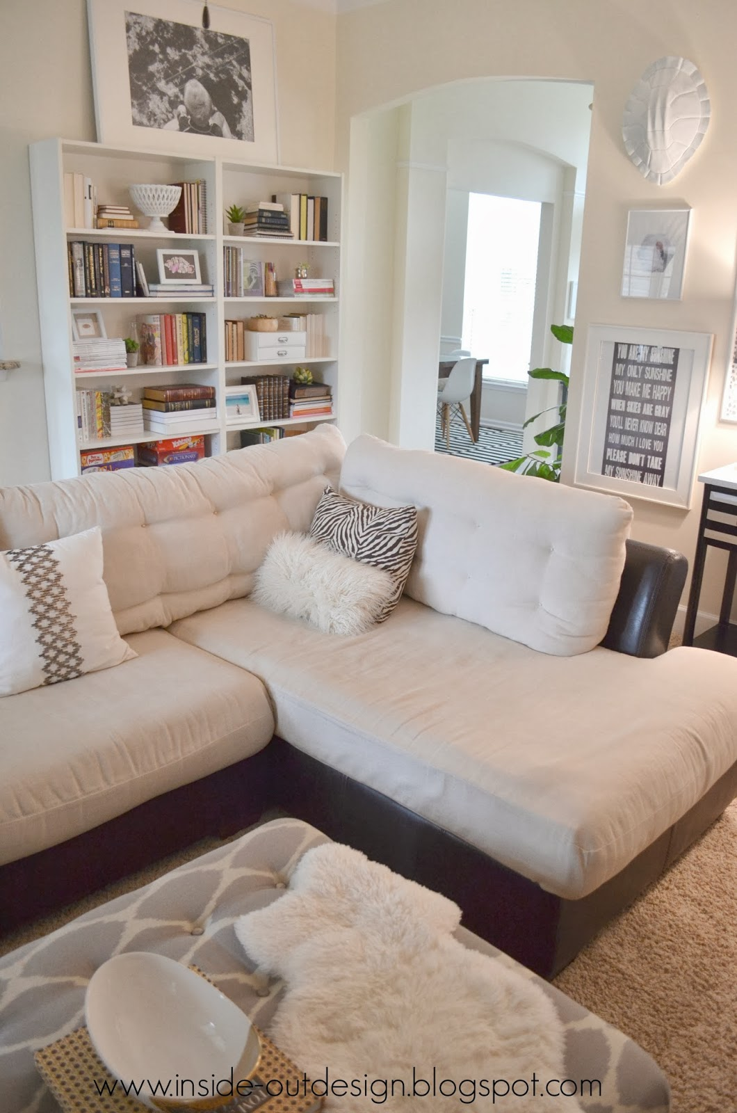Inside out design living room bookcases Where to put a bookcase in a room