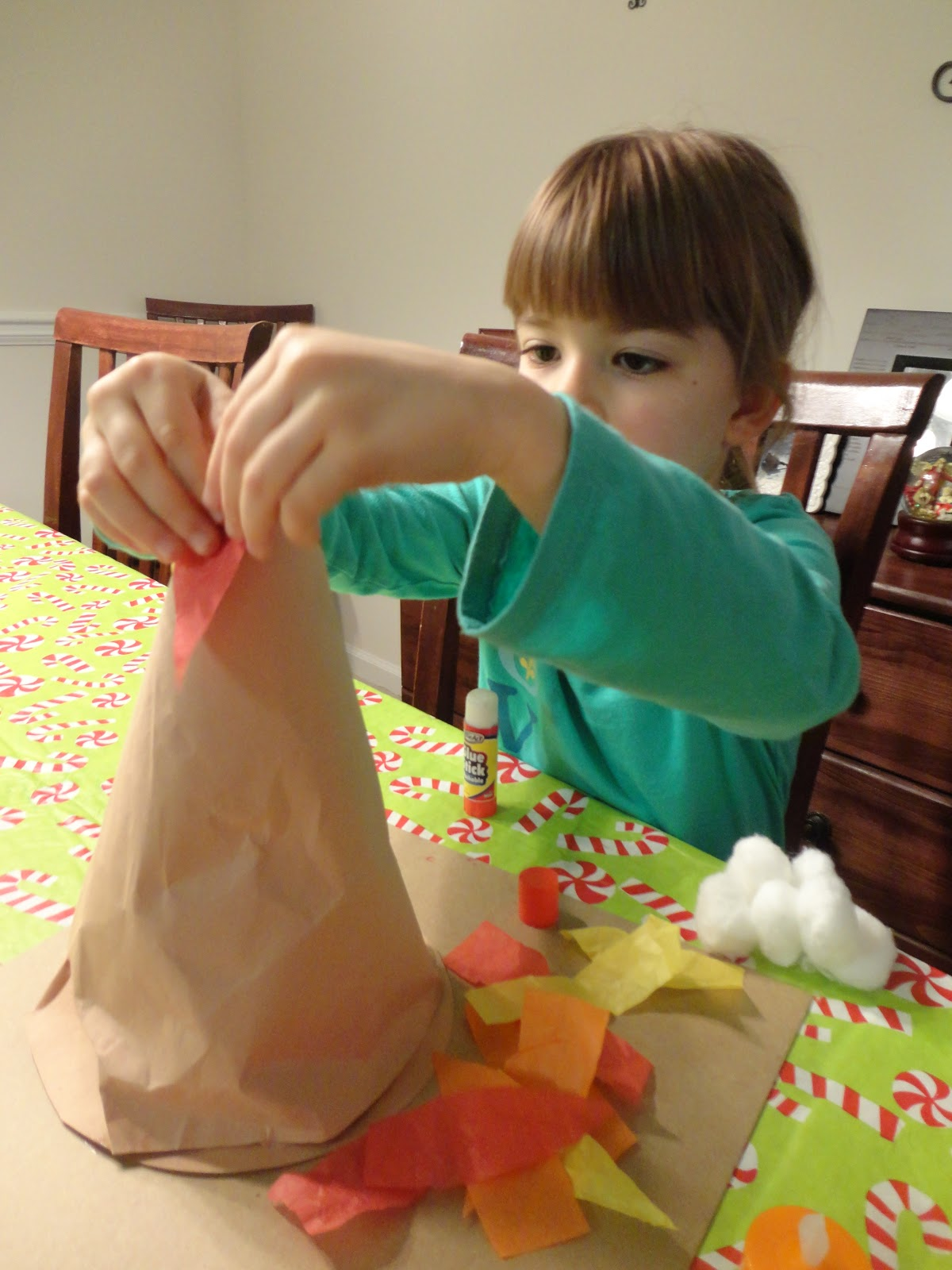 how to make a volcano out of paper and glue