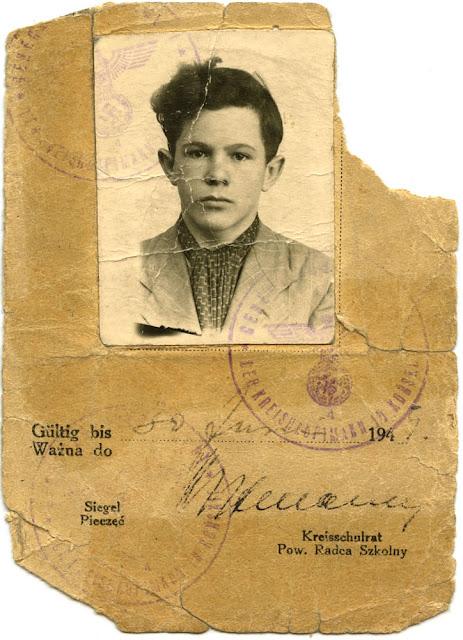 Jerzy Woźniak, kenkarta ważna do 30 lipca 1945. W zbiorach KW