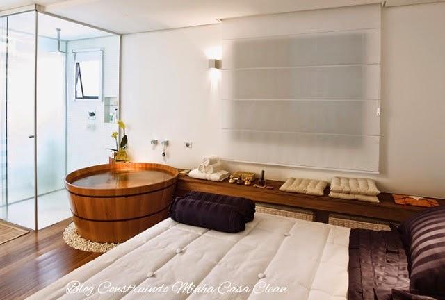 Construindo Minha Casa Clean Quartos Integrados com Banheiros de Vidros! -> Banheiro Pequeno Ofuro