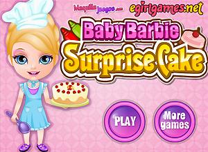 O bolo surpresa da Baby Barbie