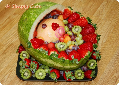 baby shower fruit ideas i saw a cute fruit tray