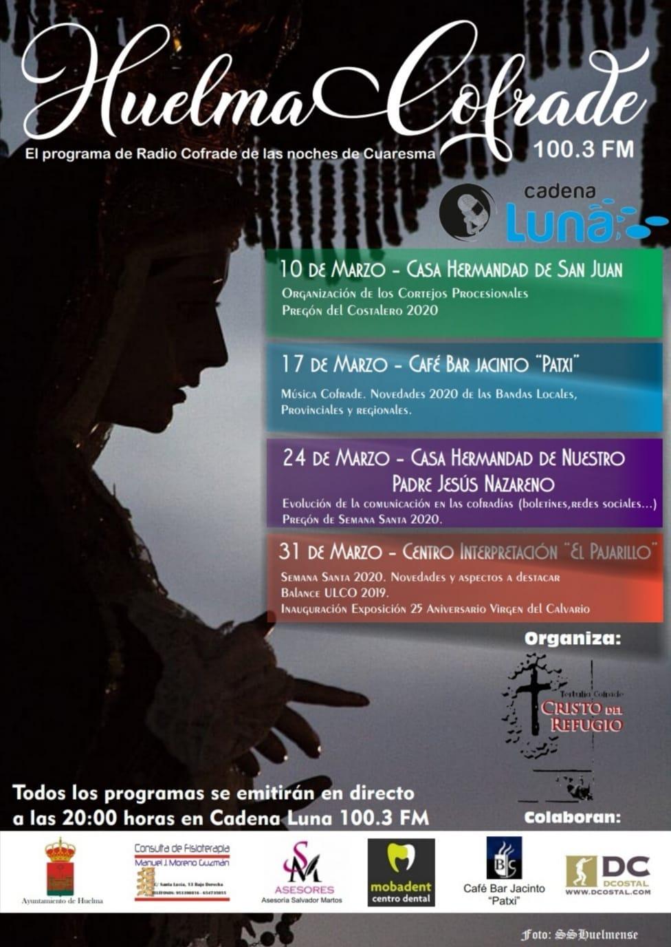 """PROGRAMA DE RADIO CON LA TERTULIA COFRADE """"CRISTO DEL REFUGIO"""" 2020"""