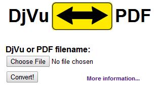 djvu-pdf online convert