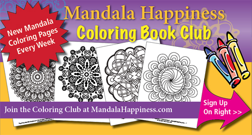 Join The Free Mandala Happiness Coloring Book Club Sign Up Right Over There On