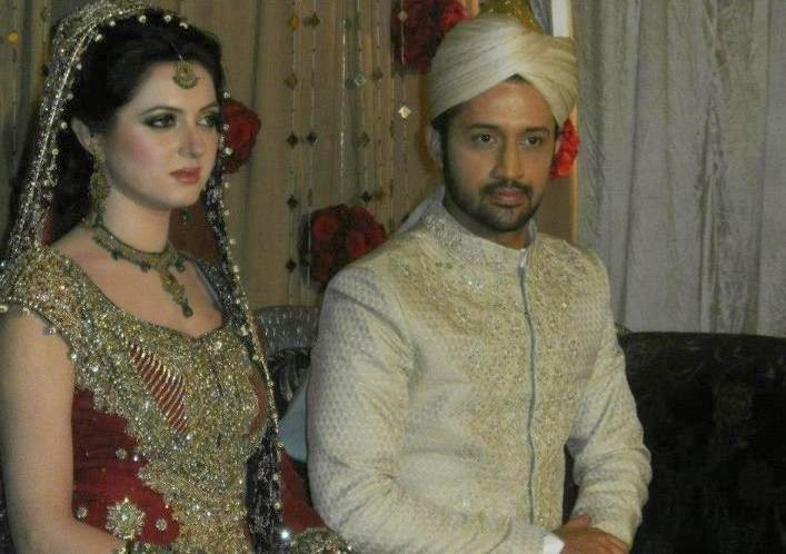 Atif Aslam and Sara Bharwana Wedding Album