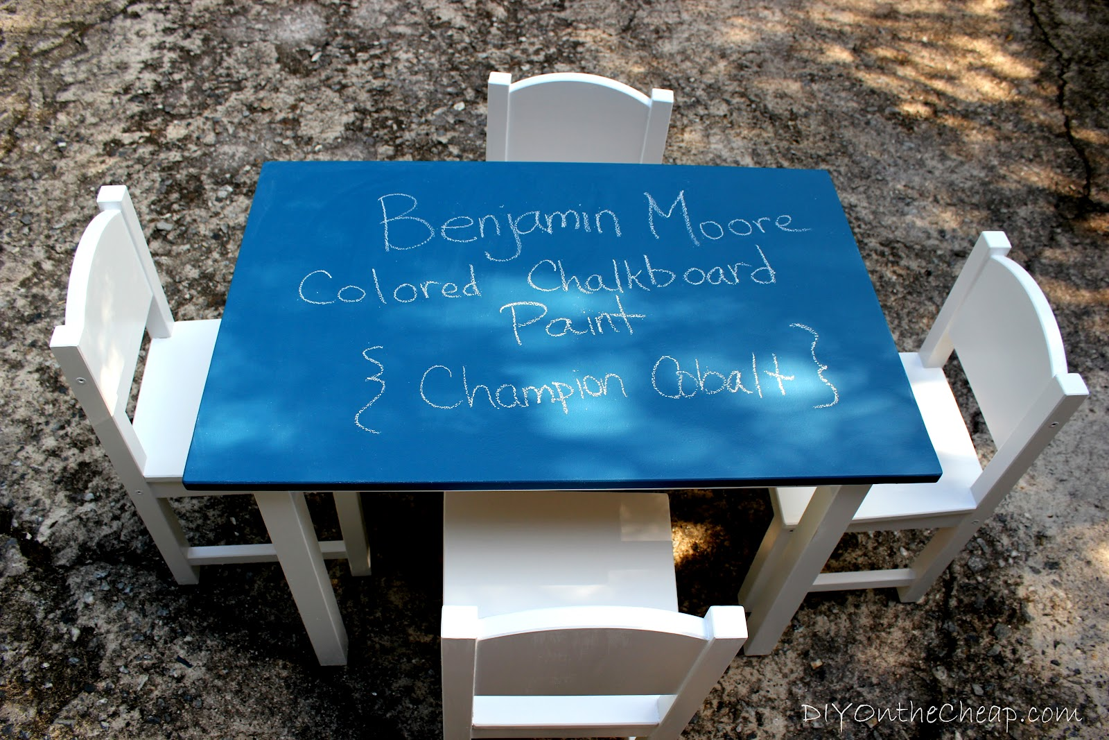 Kid\'s Colored Chalkboard Table - Erin Spain