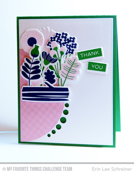 Floral Thank You Card by Erin Lee Schreiner featuring the Fall Florals stamp set and Die-namics and the Blueprints 21 Die-namics #mftstamps