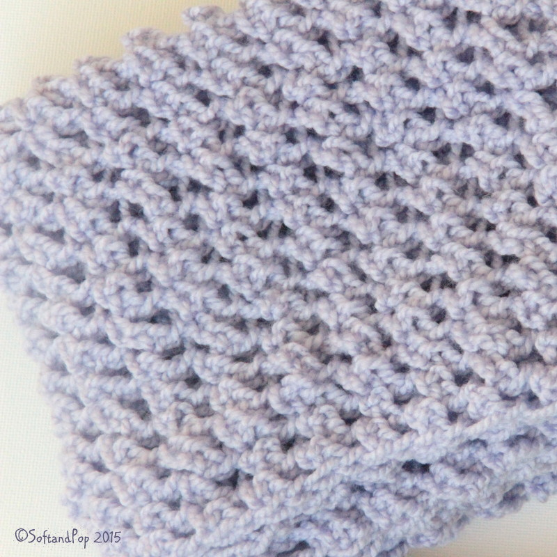 snood au crochet lavande