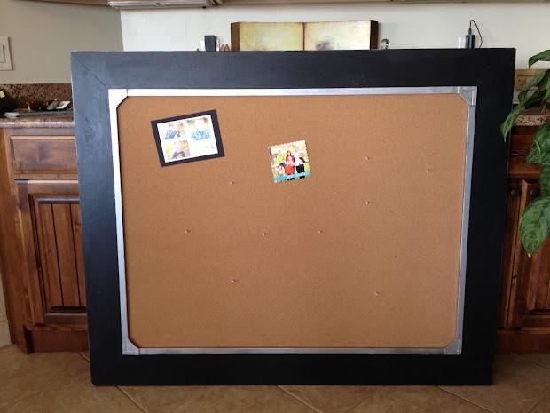 Large Framed Cork Board