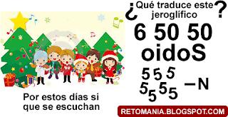 Jeroglífico, Jeroglíficos, Navidad, Descifra este jeroglífico, Traduce el jeroglífico, Jeroglíficos navideños
