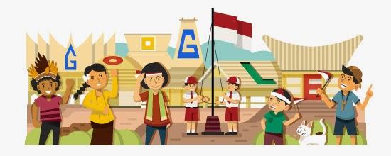 Google Doodle: Hari Kemerdekaan Indonesia