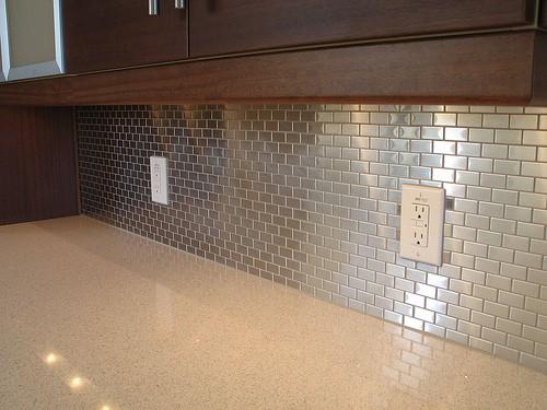 Stainless Steel Tiles Kitchen Backsplash Ideas