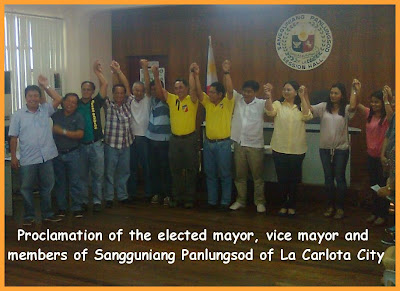 Proclaimed elected officials of La Carlota City