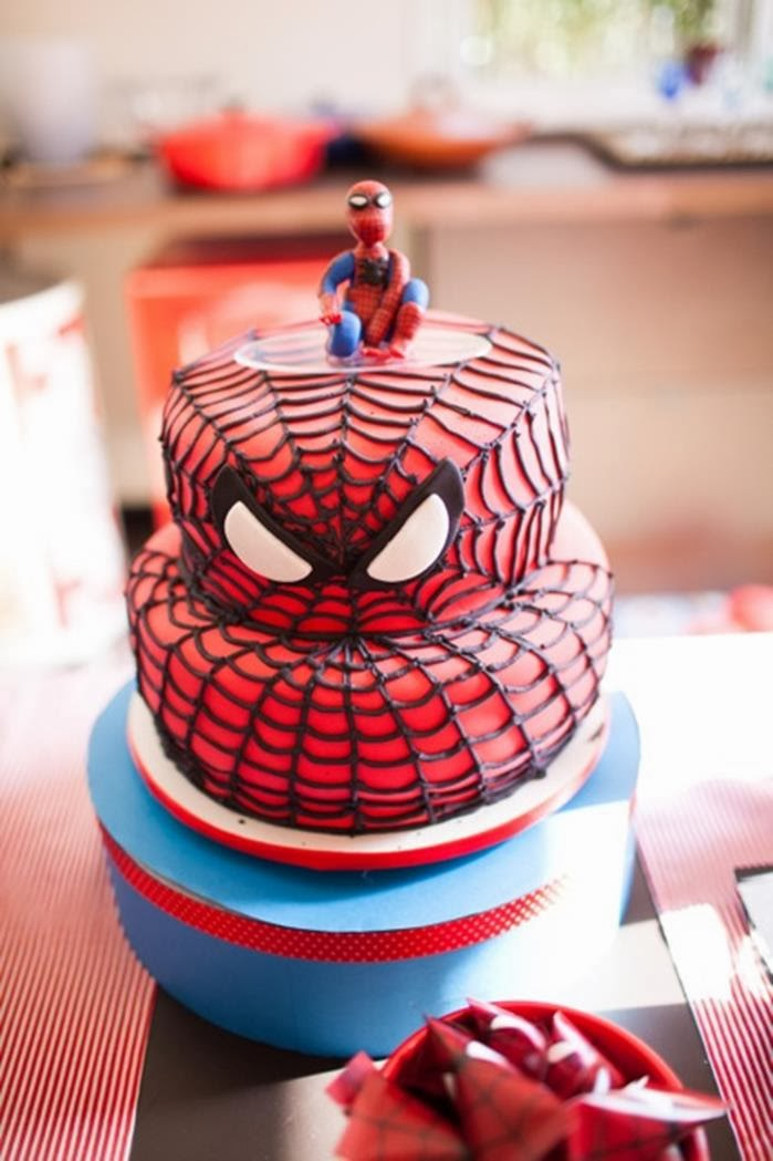 http://www.karaspartyideas.com/2013/11/spiderman-themed-birthday-party.html