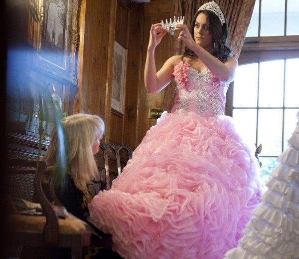 gypsy big pink wedding dress design by princess kate middleton