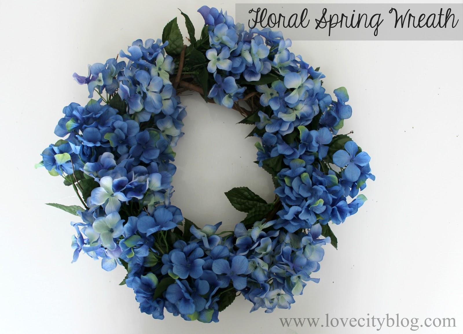 Love City diy love floral spring wreath