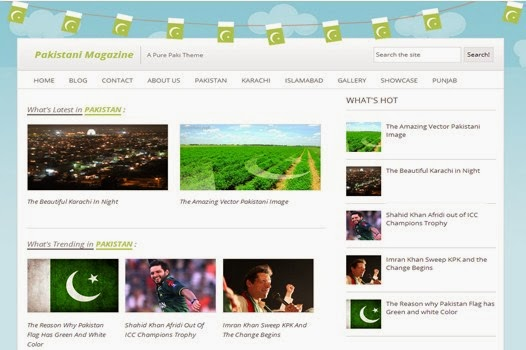 pakistan mag blogger template