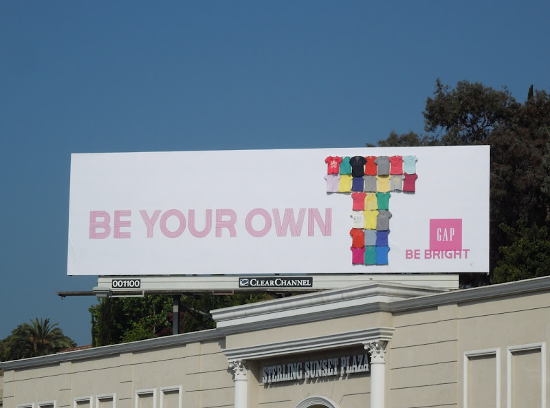 Gap Be Your Own T special installation billboard
