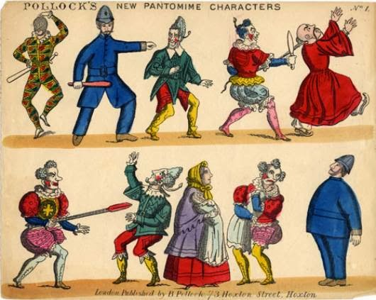 the origins of pantomime The english pantomime originated in the popular harlequinade afterpieces of early 18th-century dramatic productions similar to the french arlequin comic.