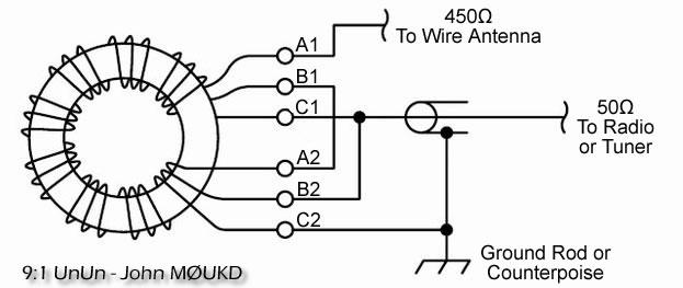 u807d u898b u9060 u65b9     magnetic long wire unun 9 1