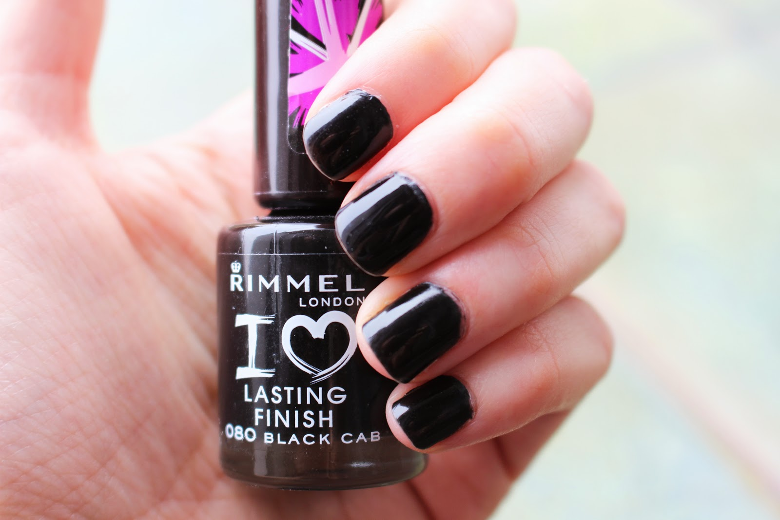 rimmel london black cab nail polish