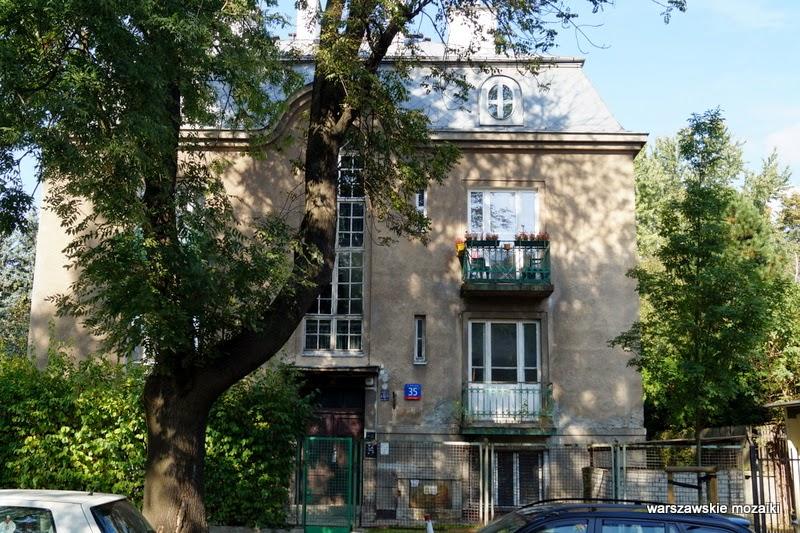 Warszawa Saska Kępa Praga Południe modernizm willa ulica warszawskie wille przedwojenna