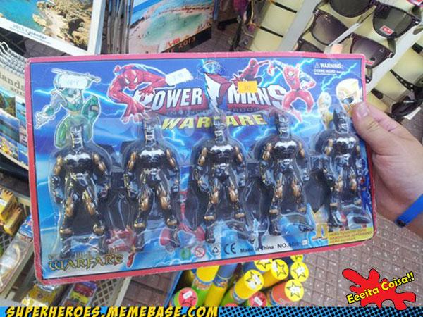 o que fizeram com você foi o que me perguntei ao ver vários bonecos do Batman com o título Power Man no começo do pacote da loja de brinquedo